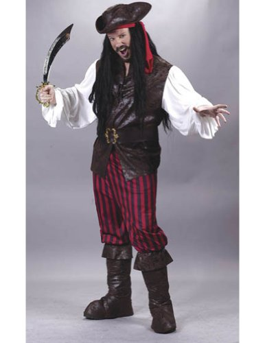Adult-Costume High Seas Male Buccaneer Adult Halloween Costume