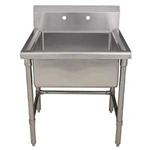 Utility Sink Stainless Steel Freestanding : ... Freestanding Laundry/Utility Sink, Brushed Stainless Steel - - Amazon