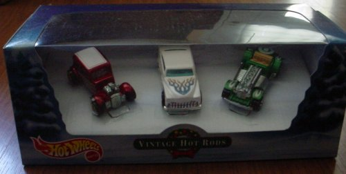2000 - Mattel - Hot wheels - Vintage Hot Rods - Holiday Set - Ford Vicky / Purple Passion / Sweet 16 - Box & Cars Mint - New - Collectible - Out of Production