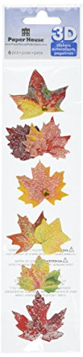 Paper House Productions STEM-0011E 3D Cardstock Stickers, Autumn Leaves, 2-Inch (3-Pack) (House Of Card 3 compare prices)