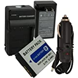 Battery + Charger for Sony CyberShot DSC-T90 DSC-T900 InfoLithium Type D NP-FD1 NP-BD1 + Car Plug