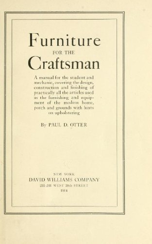 Furniture for the Craftsman