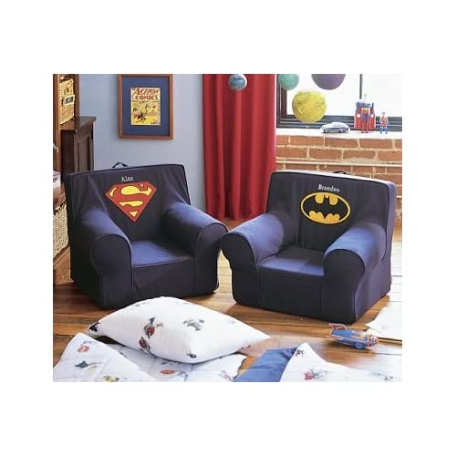 pottery barn kids batman superman anywhere chairs slipcover. Black Bedroom Furniture Sets. Home Design Ideas
