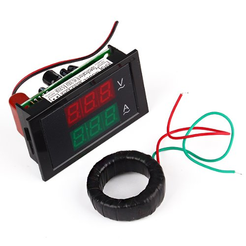Durable Separated Ct Lcd Amp Volt Meter Ac 80-300V 200A Two Wires Connection