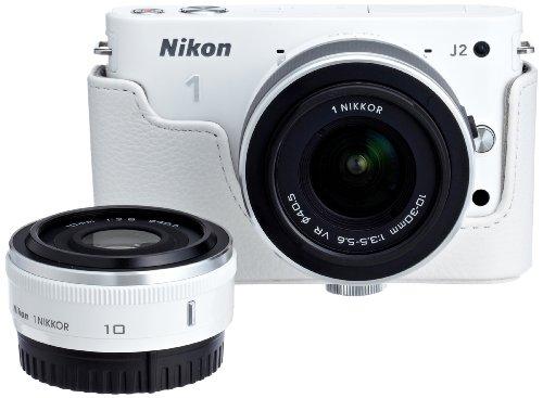 【Amazon.co.jp限定】Nikon デジタル一眼カメラ Nikon1 J2+10mm/2.8ダブルレンズセットA N1J210/2.8WLKA