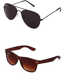 Benour BENCOM052 Combo Unisex Sunglasses