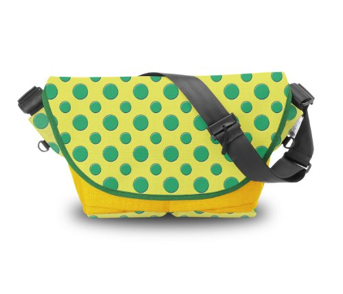 Atrangee Polka Messenger Bag (Yellow, Green) (multicolor)