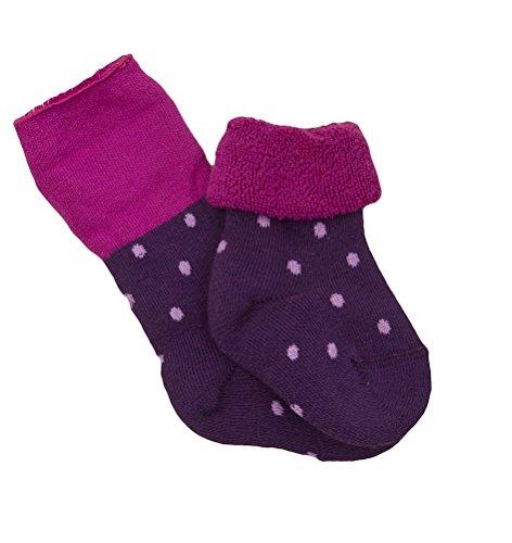 Bb-chaussettes-ponge-Violet--pois-bio
