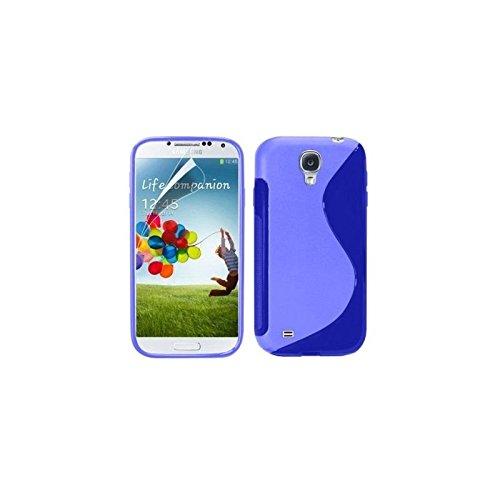 Coque Samsung Galaxy S4 i9500 Protection Minigel S-Line Bleu + Film Protection Ecran