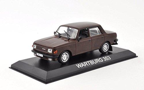 DieCast Metall Modellauto 1:43 DDR Wartburg 353 Limousine braun