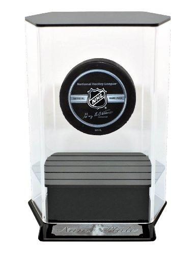 NHL Caseworks Floating Hockey Puck Display with Engraving