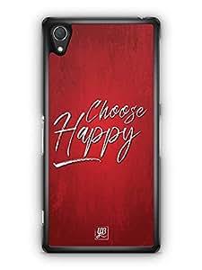 YuBingo Choose Happy Designer Mobile Case Back Cover for Sony Xperia Z2