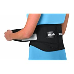 Mueller Adjustable Lumbar Back Brace, Black, Regular, 1-Count Package by Mueller