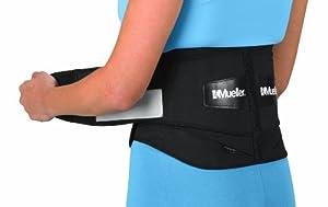 Mueller Adjustable Lumbar Back Brace, Black, Regular, 1-Count Package