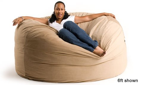 Groovy How Do I Get 6 Ft Giant Foam Bean Bag Chair Like A Lovesack Theyellowbook Wood Chair Design Ideas Theyellowbookinfo