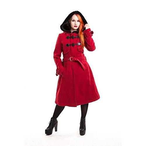 Vixxsin Moana Cappotto donna rosso Goth Emo Punk Red XL