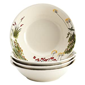 Paula Deen Signature Dinnerware Southern Rooster 4-Piece Stoneware Soup and Pasta Bowl Set