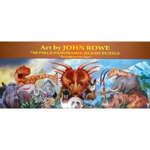 "Art by John Rowe 700-Piece 34"" x 12"" Panoramic Jigsaw Puzzle - Throughout the Ages - 1"