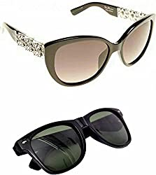 Redix New Combo TraditionaL Black Butterfly Stone party wearing Sunglasses For Womens