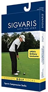 Sigvaris Ladies Casual Cotton Compression Socks 15-20mmHg - White Size A - 146CA00 by Sigvaris