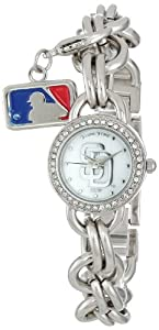 Game Time Ladies MLB-CHM-SD Charm MLB Series San Diego Padres 3-Hand Analog Watch by Game Time