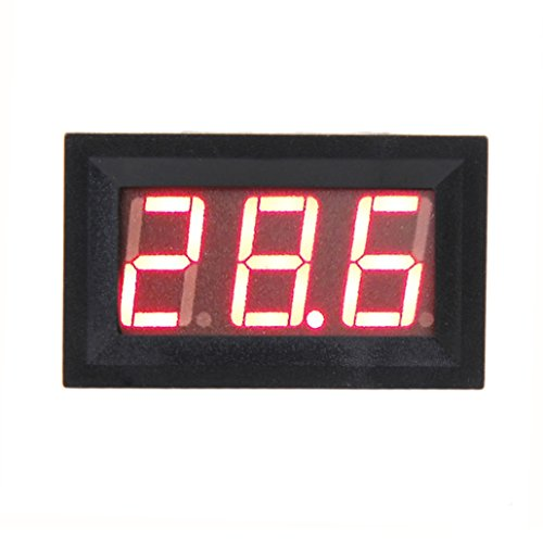 Vakind Mini Dc 0-10V Rgb Led Panel Digital Display Voltage Meter Voltmeter (Blue)