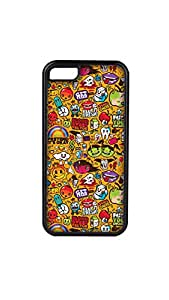 Funny Pattern Stylish Mobile Case/Cover For Apple iPhone 5C 2D black