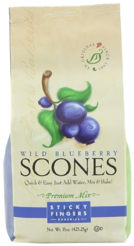 Sticky Fingers Wild Blueberry Scone Mix, 15-Ounces (Pack of 3) (Scones Mix compare prices)