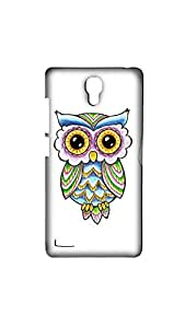 Multicolor Owl Drawing Mobile Back Cover/Case For XIAOMI RED MI NOTE (4G)
