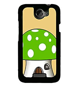 Green Mushroom 2D Hard Polycarbonate Designer Back Case Cover for HTC One X :: HTC One X+ :: HTC One X Plus :: HTC One XT