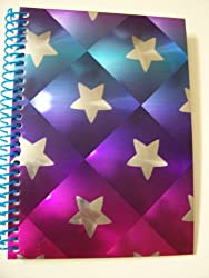 University of Style Illuminate Spiral Notebook Shining Stars (8 x 10.5; 70 Sheets, 140 Pages)