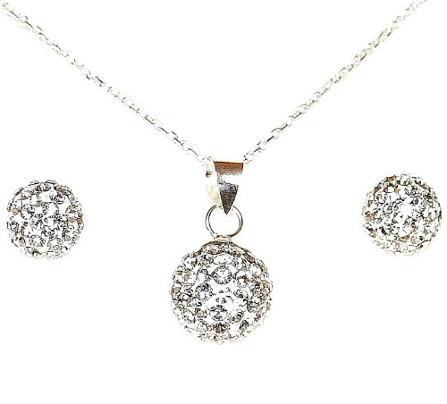 DECORUM JEWELLERY beautiful crystal ball necklace