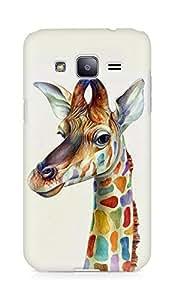 Amez designer printed 3d premium high quality back case cover for Samsung Galaxy J2 (Friendly Giraffe Colorful)