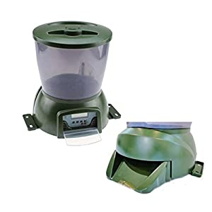 Automatic pond fish feeder pet supplies for Diy automatic fish feeder