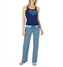 Stripe Knit Pant Pajama Set