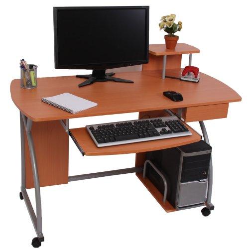 Jugend-Schreibtisch Computertisch Bürotisch Ohio II, ca 90x115x55cm ~ Buche günstig online kaufen