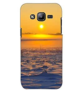 ColourCraft Lovely Sunset Design Back Case Cover for SAMSUNG GALAXY J2 DUOS