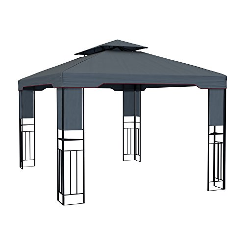paramondo deluxe gartenpavillon wasserdicht 4 x 3m anthrazit. Black Bedroom Furniture Sets. Home Design Ideas