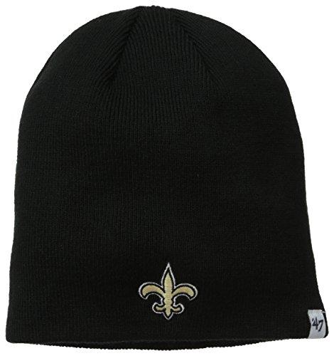 Nfl New Orleans Saints '47 Brand Beanie Knit Hat (Black, One Size) front-787358
