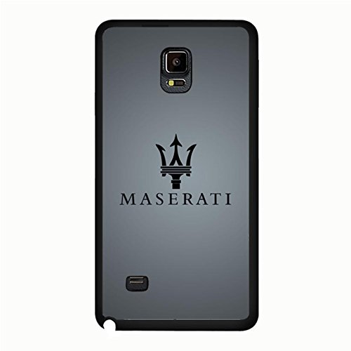 Samsung Galaxy Note 4 Cover Case Luxury Printed Maserati Logo Phone Case Snap on Samsung Galaxy Note 4 Fabulous Visual Maserati Mark Pattern
