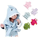 Voberry®New Arrival Cute Designs Hooded Animal modeling Baby Bathrobe/Cartoon Baby Towel kids bath robe/infant bath towels (LightBlue)