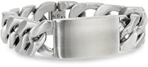 Men's Stainless Steel Extra Wide ID Bracelet, 9.25
