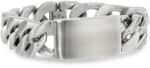 Men's Stainless Steel Extra Wide ID Bracelet, 9.25