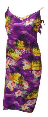 La Leela Beach Printed Sundress Sarong Wraps Purple Sarong