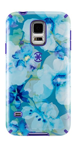 Click to buy Speck Products CandyShell Inked Carrying Case for Samsung Galaxy S5 - Retail Packaging - Aqua Floral Blue/UltraViolet Purple - From only $31.96