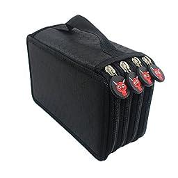Pencil Bag Feelily 72-slot Multi-layer Pencil Case/Pencil Wrap/Pencil Holder/Pencil Pouch for School Office /Artists (Pencil Case Only,No Pencils)