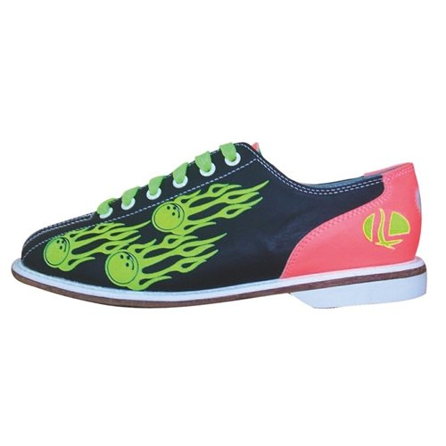 Linds Womens Flame Glow Rental Bowling Shoes- Laces