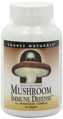Mushroom Immune Defence, 16-Mushroom Complex, 60 Tablets by Source Naturals