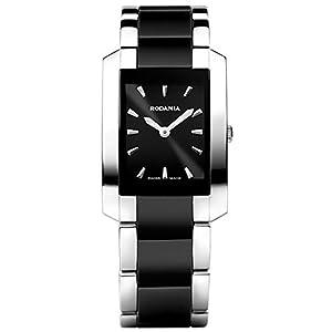 RODANIA 24523-46 25X35mm Multicolor Steel Bracelet & Case Mineral Women's Watch