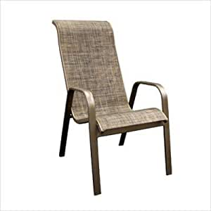 Stacking Dining Arm Chairs Set Of 2 Garden Outdoors
